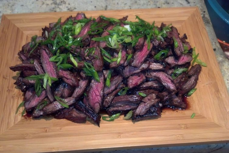 Soy Scallion Marniated Skirt Steak