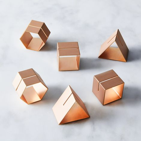 Rose Gold Napkin Rings & Placecard Holders