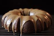 Applesauce Cake with Caramel Glaze