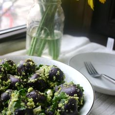 New Potato Salad with Spring Onion Pesto