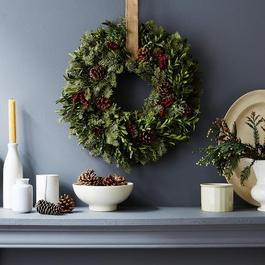 Fir & Canella Berry Holiday Wreath
