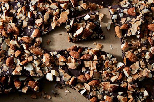 Dark Chocolate Bark with Almonds & Coconut