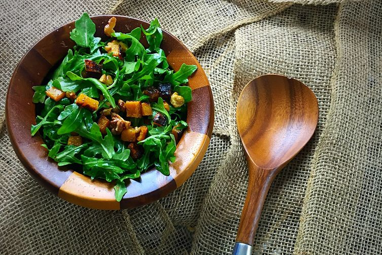 ARUGULA AND BUTTERNUT SQUASH SALAD