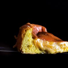 The imploding honey custard cake