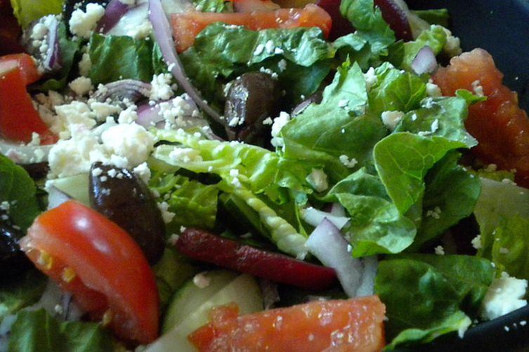 My Big Fat Greek Salad ( with fresh herb vinaigrette)