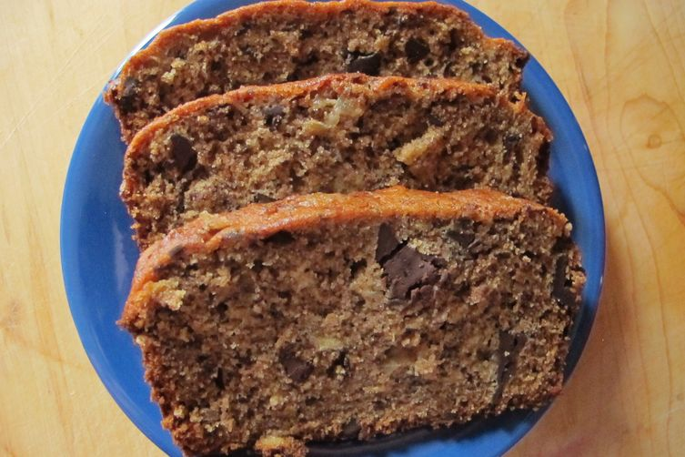 Banana Bread with Bittersweet Chocolate and Crystallized Ginger