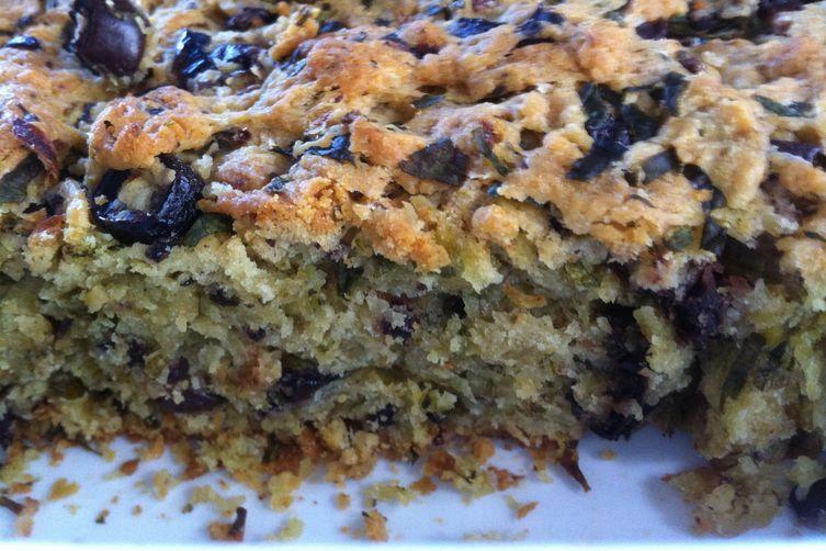 Savoury olive cake.