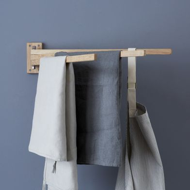 Swedish Wooden 3-Prong Towel Rack