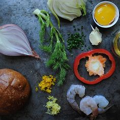Shrimp Burgers with Roasted Garlic-Orange Aioli