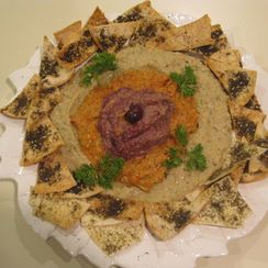 Baba Ghanooj Trio served with Za'atar Pita Toasts