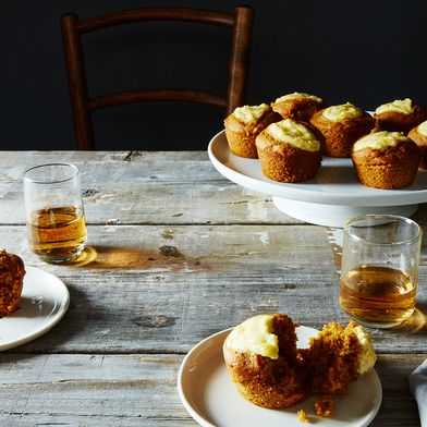 Boozy Belly Pumpkin Cupcakes