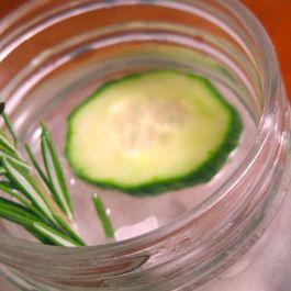 Rosemary-Cucumber Gin Fizz