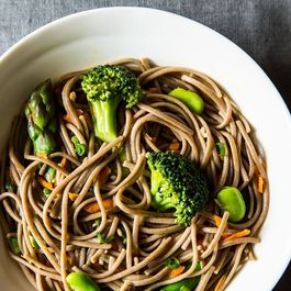 Spring Soba Noodle Salad with Fava Beans