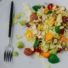 Romanesco, fennel and kumquat salad