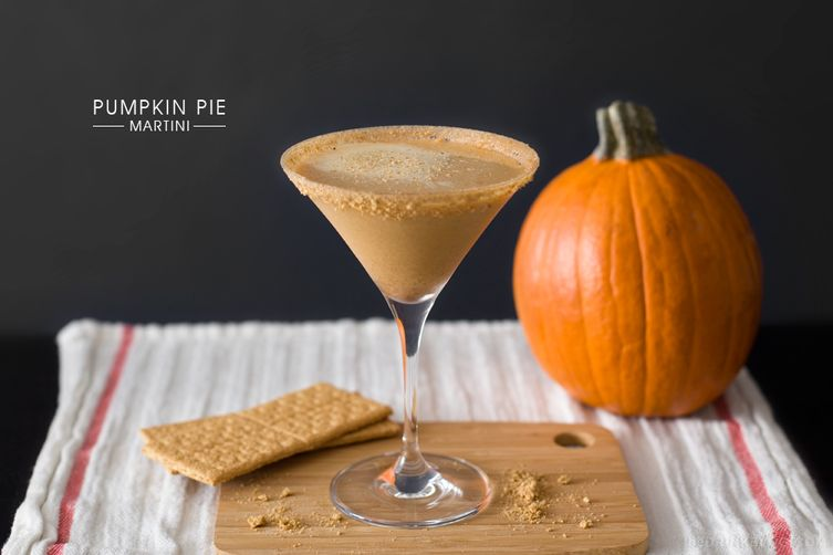 Pumpkin Pie Martini - A Pumpkin Pie in a Glass