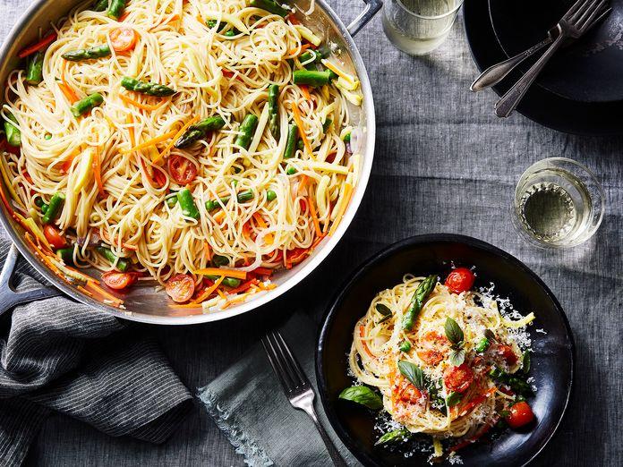Martha Stewart's Super Famous One-Pot Pasta, Warm Weather Edition