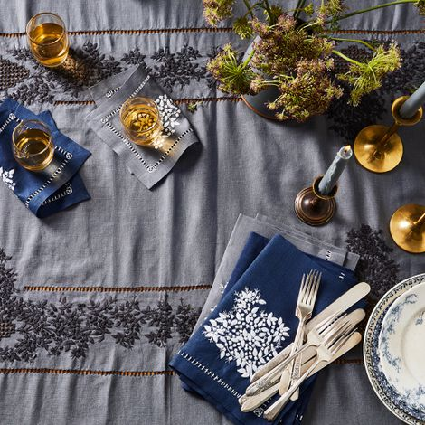 Jardin Estate Hand-Embroidered Table Linens