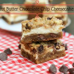 Peanut Butter Chocolate Chip Cheesecake Bars