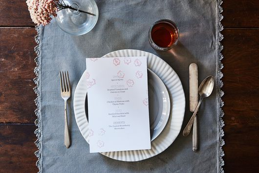 How to Make Stamped Menus Using Scraps of Produce