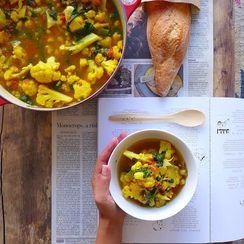Golden Cauliflower and White Bean Stew
