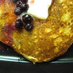 Orange Oatmeal-Yogurt Pancakes with Huckleberries