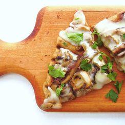 Grilled Mushroom and Taleggio Pizza