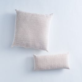 Crocheted Cotton Throw Pillow