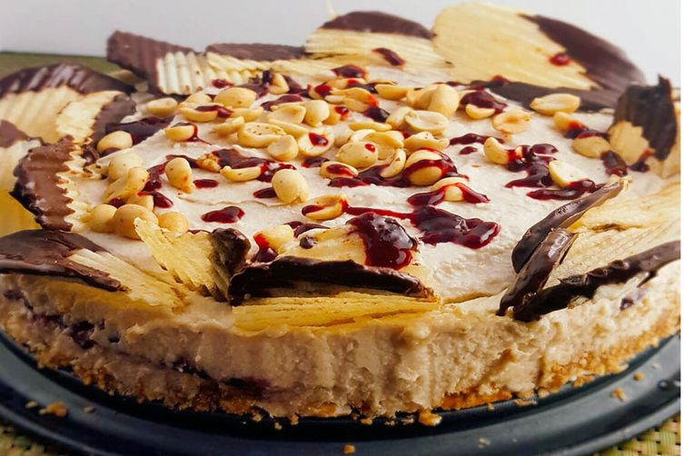 Peanut Butter and Jelly Picnic Cheesecake (Vegan)