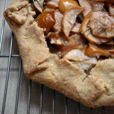 Pear Rosemary Galette