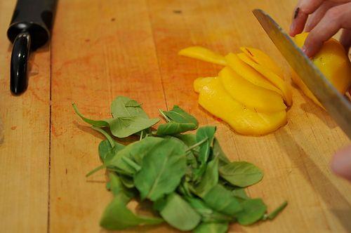 Prosciutto, Nectarine and Fontina Panini on Rosemary Focaccia