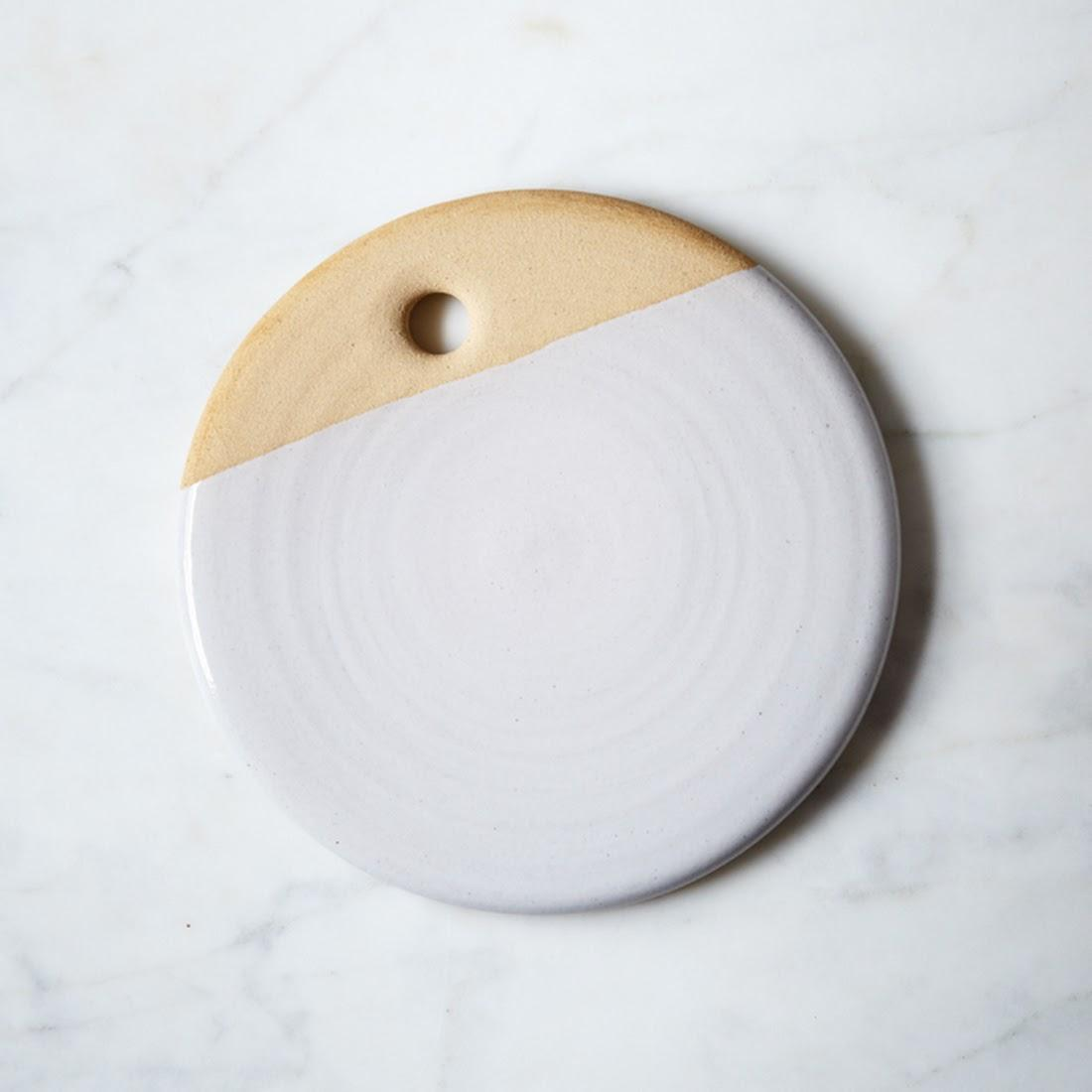 dipped clay plate farmhouse pottery