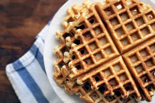 Sour Cream Cornmeal Waffles