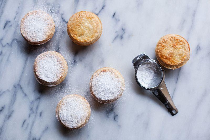 A dusting of powdered sugar is always a good idea.