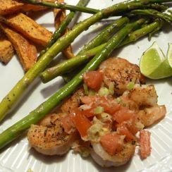 Grilled Shrimp with Horseradish Salsa