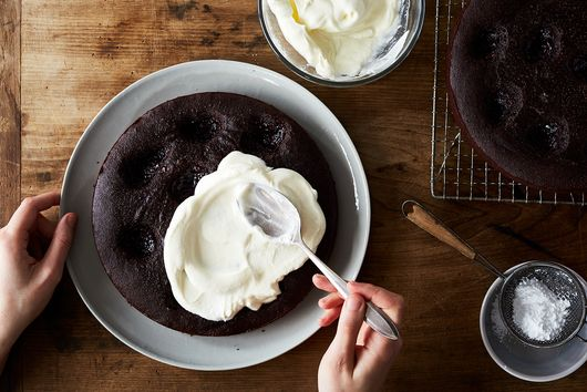 A Chocolate-Almond Cake That's Rich & Jammy—Even Without Butter