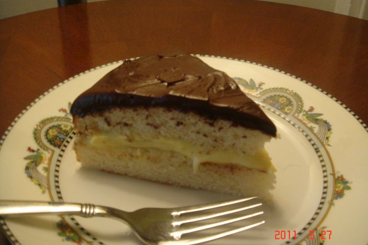 Boston Cream Pie with Kahlua ganache