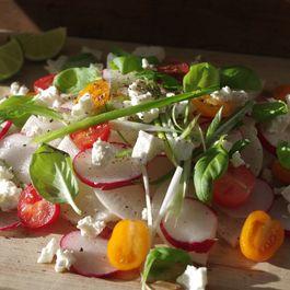 2 radish, summer salad