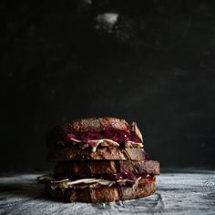 Smoked Portobello and Gruyere Reuben