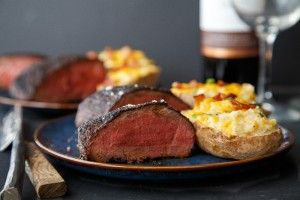 Cocoa-Rubbed Steaks