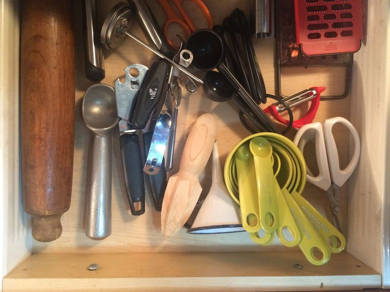 Scoopers, graters, and openers all in one place.
