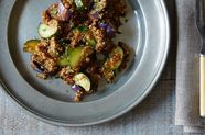 Dinner Tonight: Miso Quinoa Pilaf with Grilled Cucumber and Eggplant