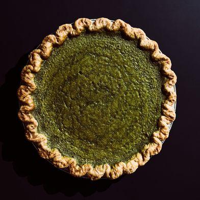 Four & Twenty Blackbirds Matcha Custard Pie