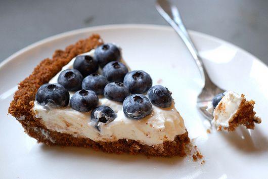 Blueberry Lemon Yogurt Tart with Gingery Graham Cracker Crust
