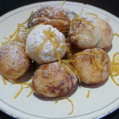 Buttermilk Pancake Puffs Filled with Limoncello Lemon Curd