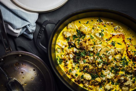 Roasted Cauliflower in Turmeric Kefir