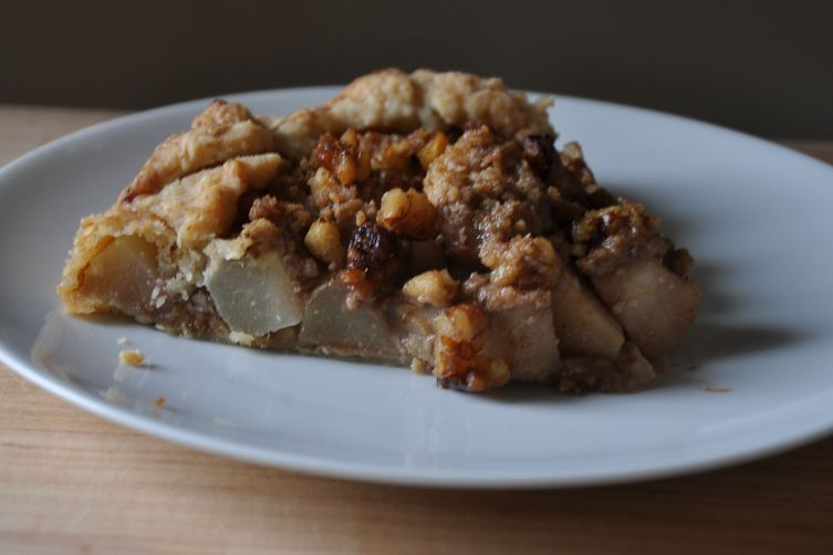Rustic Pear Tart with Walnut Streusel Topping