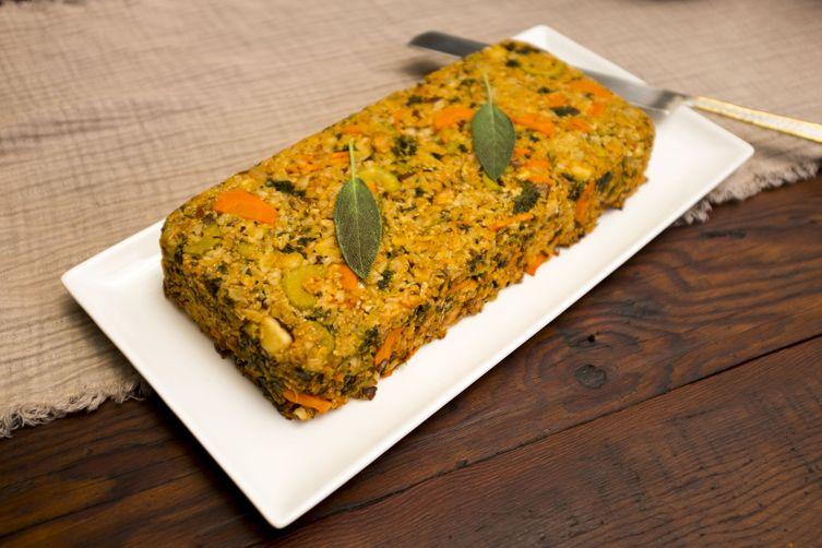 GF vegan nut loaf