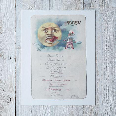 Vintage Menu Print: Café Anglais