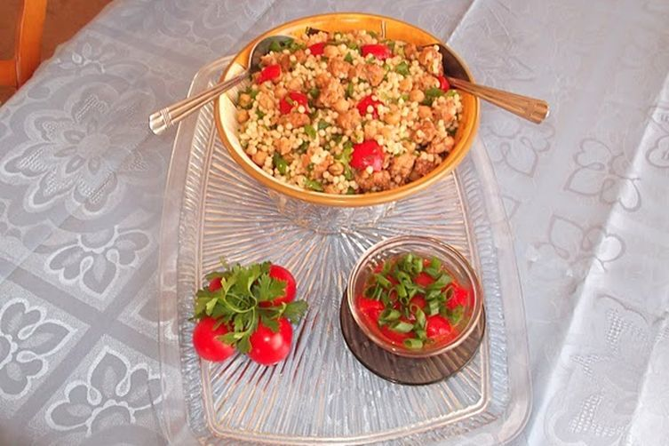 Warm Couscous, Sausage and Chickpea Salad with Cherry ...