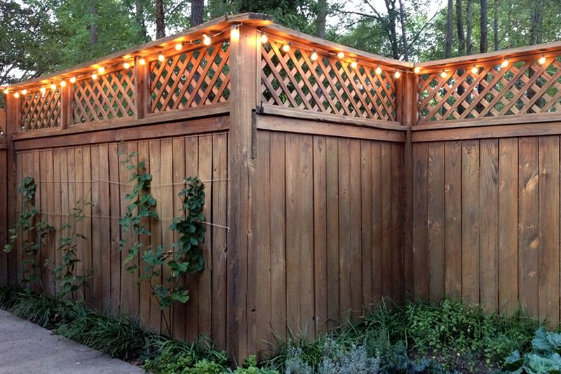 Stringing patio lights = a great way to celebrate.